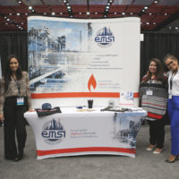 EMSI booth with staff